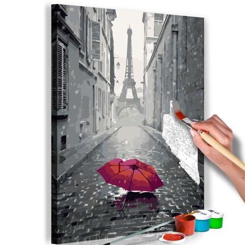 Artgeist Malen nach Zahlen - Paris (Roter Regenschirm)