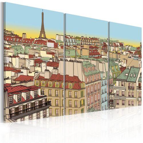 Artgeist Wandbild - Paris in zuckersüßer Version