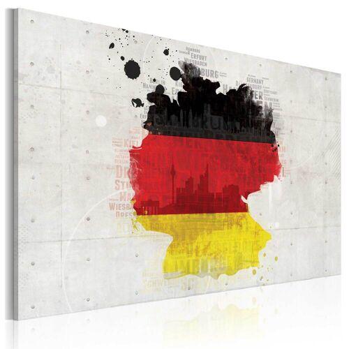Artgeist Wandbild - Deutschlandkarte