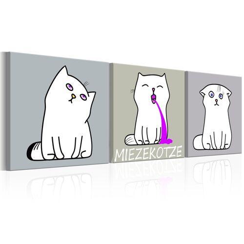 Artgeist Wandbild - Miezekotze: Cat Trio