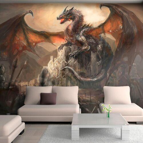 Artgeist Fototapete - Dragon castle