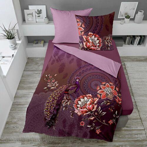 Traumschlaf Mako-Satin Bettwäsche Elegance lila