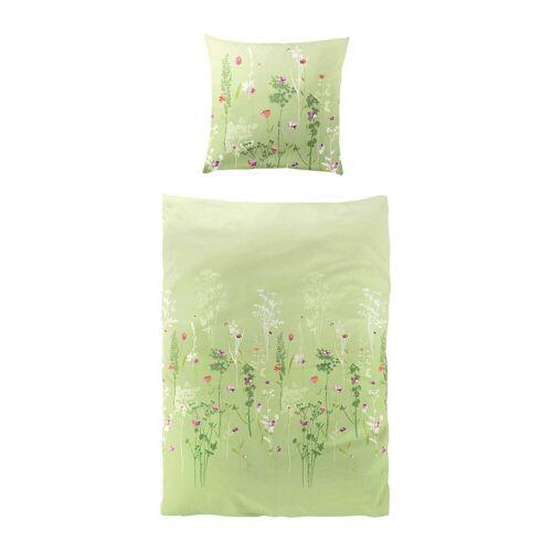 Bierbaum Mako-Satin Bettwäsche Maidstone grün grün
