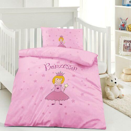Optidream Renforcé Kinderbettwäsche Prinzessin pink
