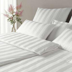 elegante Mako-Satin Bettwäsche Noblesse weiß weiß