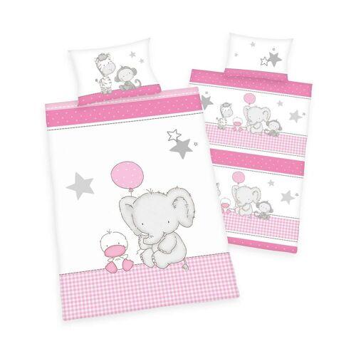 Herding Bettwäsche Elefant pink
