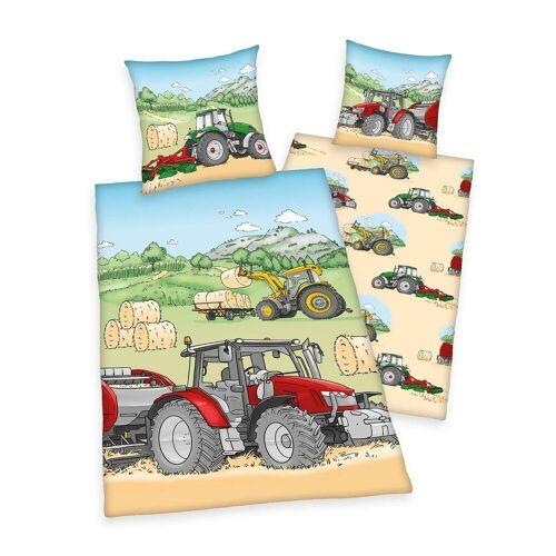 Herding Bettwäsche Traktor bunt