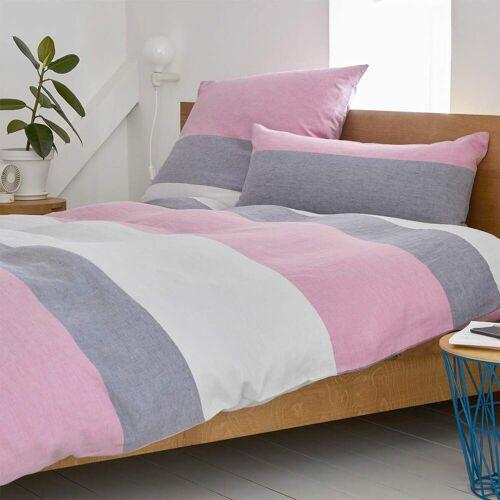 elegante Halbleinen Bettwäsche Beat pink pink