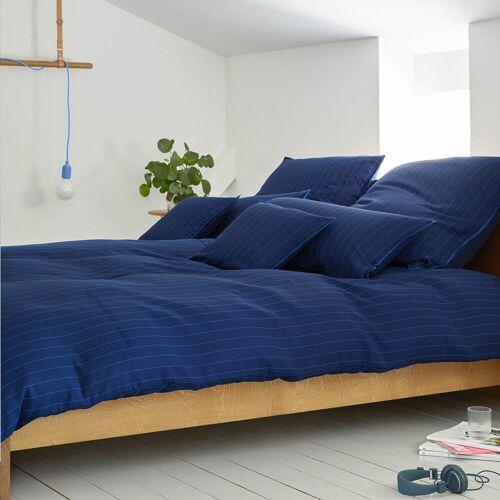 elegante Halbleinen Bettwäsche Pop blue blue