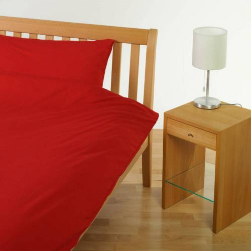 Cotonea Jersey Uni Bettwäsche rot rot