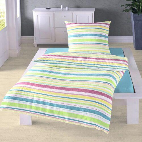 Traumschlaf Seersucker Bettwäsche Summer Stripes pastell