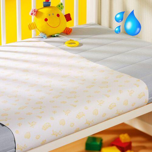 Setex Wasserdichte Kinder Molton Matratzen Querauflage weiss