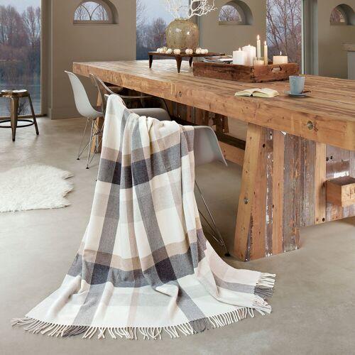 Biederlack Plaid Check Wool grau