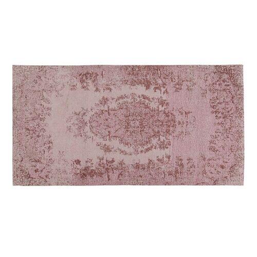 Kare Teppich Vintage pink
