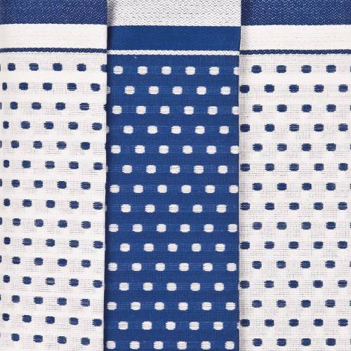 Ross 3er Pack Baumwoll-Geschirrtücher Points 1731 blau