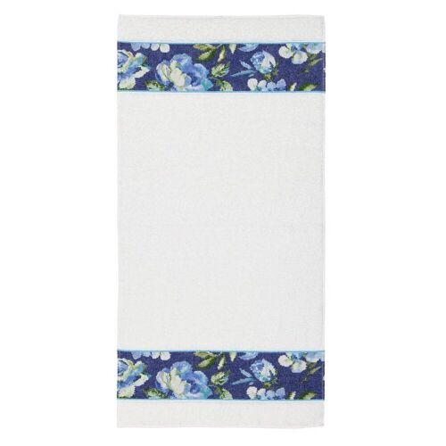 Feiler Handtücher Diana Blue Border weiß