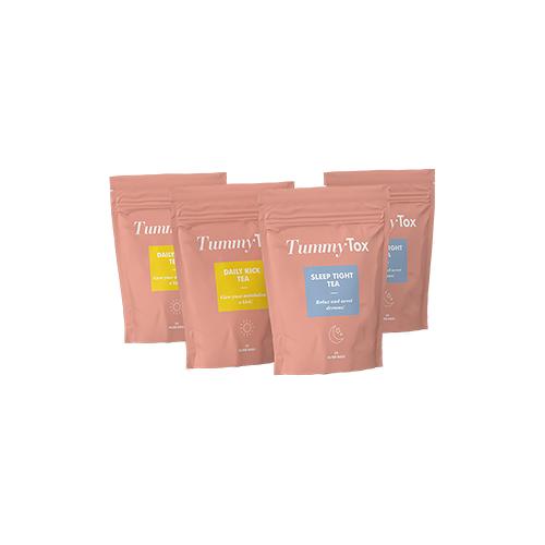 TummyTox Kräutertee 1+1 GRATIS. zur Entgiftung für Tag und Nacht. 2x40 Teebeutel.