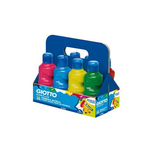 Giotto Acrylfarben, Set mit 8 Farben je 250 ml
