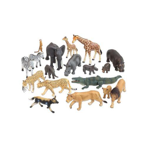 edumero Afrikanische Tiere, 18-tlg. Set
