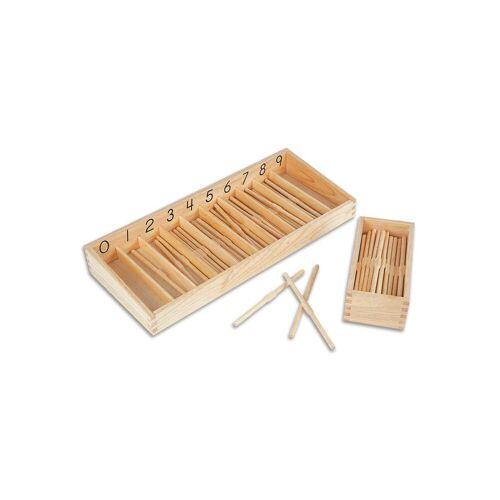 edumero Stäbchen-Box mit 19 cm langen Stäbchen