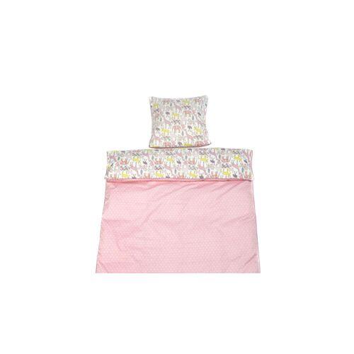 LIFETIME Baby-Bettwäsche Baby-Bettwäsche 40x60 + 100x135 cm Sternchen rosa, Einzelbett
