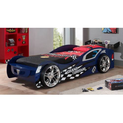 VIPACK Autobett Hero blau Kinderbett Auto 90x200 cm blau