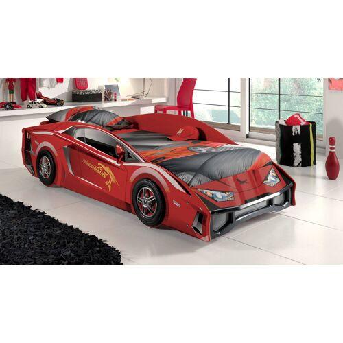 VIPACK Autobett Match rot Kinderbett Auto 90x200 cm rot