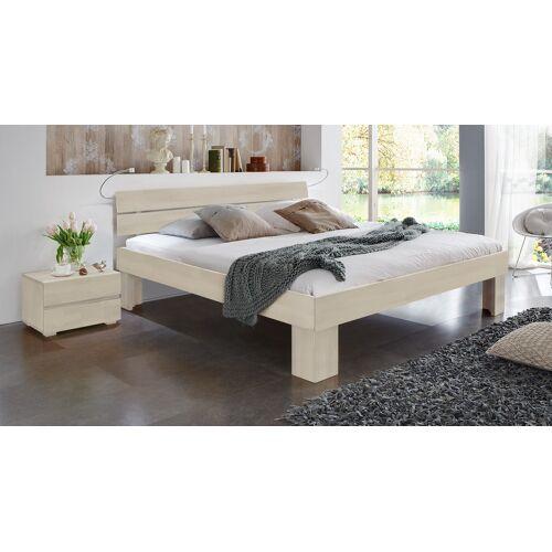 Hasena Bett Lucca Komfort Komfortbett 90x200 cm Buche weiß