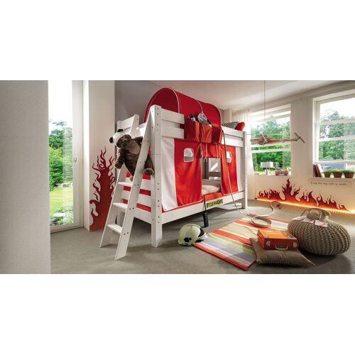 Infantil Stockbett Kids Dreams Stockbett 90x200 cm weiß mit Holzstruktur