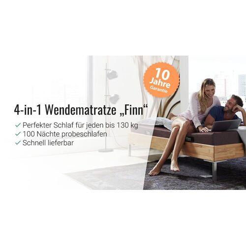 Ergovital 4-in-1 Wendematratze Finn Matratze Kaltschaum 90x200 cm XXL  - H3 bis 130kg