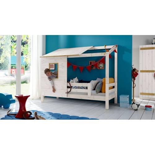 Infantil Abenteuerbett Kids Paradise Kinderbett 90x200 cm Kiefer natur