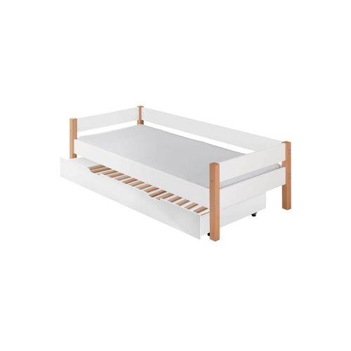 Infantil Ausziehbett Kids Nordic Kinderbett 90x200 cm weiß