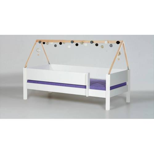 Manis-h Hausbett Kids Town Kinderbett 90x200 cm weiß