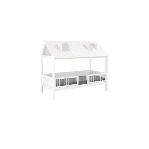 LIFETIME Kinderbett Ferienhaus Kinderbett 90x200 cm weiß