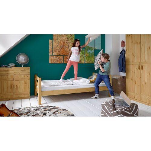 Infantil Kinderbett Kids Paradise Basic Kinderbett 90x200 cm Kiefer gelaugt geölt