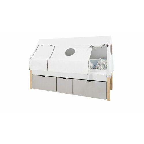 Manis-h Kojenbett Kids Town Tipi Kinderbett 90x200 cm weiß