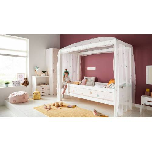 LIFETIME Kinder-Himmelbett Fairy Dust Kinderbett 90x200 cm weiß