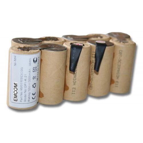 EMCOM Akku für Gardena Accu-Pumpe 1500/1, Rasenkantenschere Accu V12, 12 Volt, 3000...
