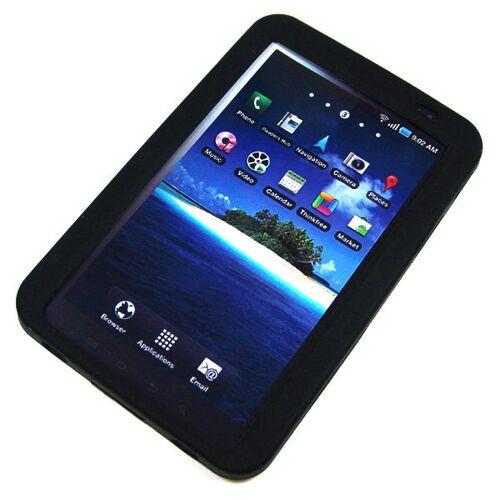 EMCOM Back-Case für Samsung P1000 Galaxy Tab, schwarz, (Silikon)