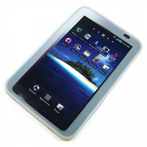 EMCOM Back-Case für Samsung P1000 Galaxy Tab, weiß, (Silikon)