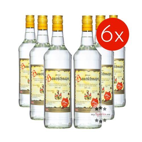 Fein Prinz Hausschnaps 34 % Vol.  - 6 Flaschen (34 % Vol., 6,0 Liter)