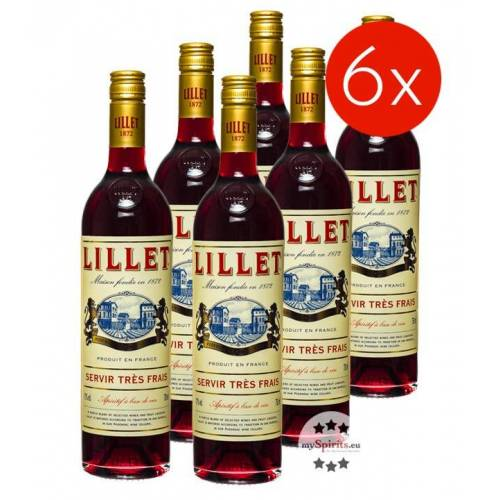 Lillet Rouge 6er-Paket (17 % vol., 4,5 Liter)