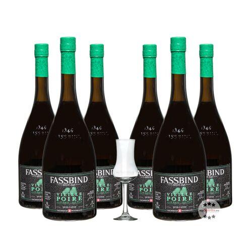 Fassbind Sechserpack Alte Birne - Vieille Poire (40% Vol., 0,7 Liter)