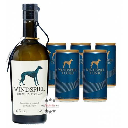 Windspiel Manufaktur Windspiel Gin & Windspiel Tonic Set (47 % vol., 1,5 Liter)