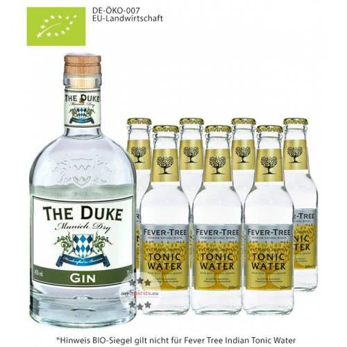 The Duke Destillerie The Duke Gin Bio & Fever-Tree Indian Tonic Set (45 % vol., 2,1 Liter)