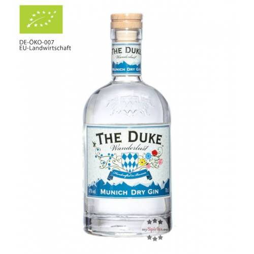 The Duke Destillerie The Duke Wanderlust Gin Bio (47 % vol., 0,7 Liter)