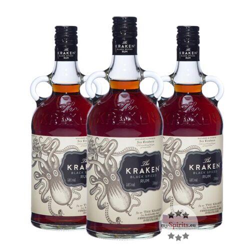 The Kraken Kraken Black Spiced 3 x 0,7l (40 % vol., 2,1 Liter)