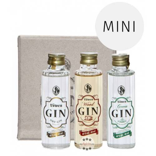 Bergbrennerei Löwen Löwen Gin 3er Probierset (40 % Vol., 0,12 Liter)