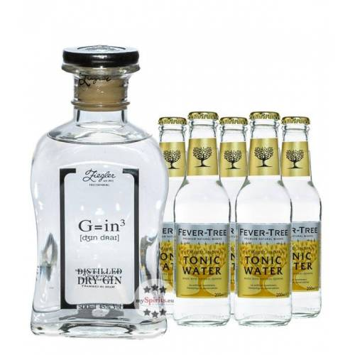 Brennerei Ziegler Ziegler Gin & Fever-Tree Tonic Set (45 % vol., 1,5 Liter)