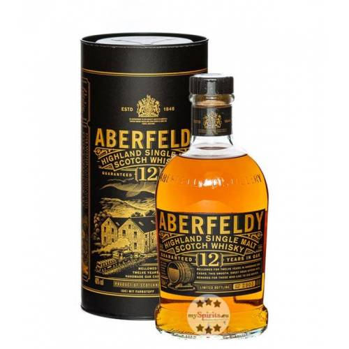 John Dewar & Sons Aberfeldy 12 Jahre Highland Single Malt Scotch Whisky (40 % Vol., 0,7 Liter)